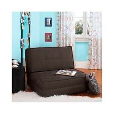 Fold Down Chair Pull Out Lounger Convertible Bed Sleeper Sofa Game Room Dorm Nap