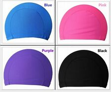 Fabric Easy Fit Adult Swimming Hat Cap Swim Mens Womens Unisex Nylon Spandex New