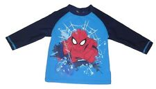 Boys swimming top swim wear upf 40+ official spiderman  3-10 years old blue