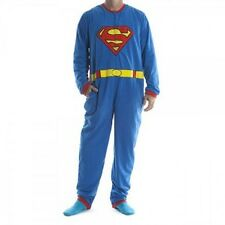 Superman Costume Union Suit Pajama DC Comics Licensed One Piece Pajama S-XXL