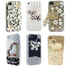 Hard Case Cover for iPhone 4 4S With Handmade Clear 3D Crystal Bling Decoration
