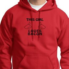 This Girl Loves Bacon Tee Funny Pig Pork Lover Breakfast Food Hoodie Sweatshirt