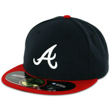 Atlanta BRAVES HOME Game New Era 59FIFTY Fitted Caps MLB AC On Field Hats