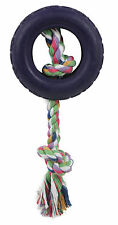 Pet Life Rubberized Dog Chew Rope and Tire