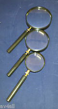 Hand Held Magnifying Glass Magnifier 5x Magnification 3 sizes to choose from