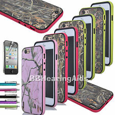 Real Grass Tree Camo TPU Rubber Hard Soft Case Cover For Apple iPhone 6 plus 5.5