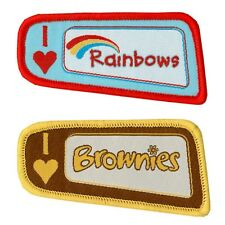 I LOVE RAINBOWS BROWNIES GUIDES WOVEN CLOTH BADGES NEW STYLE