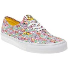 New Womens Vans Multi Pink Authentic Canvas Trainers Lace Up