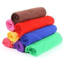 10 PCS Multi-Color Absorbent Microfiber Bath Car Kitchen Washing Towel Rags D53