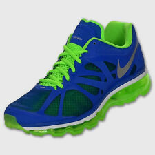 NEW Mens  8  NIKE AIR MAX + 2012 360 Royal Blue Lime Running Training Shoes