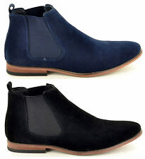 Mens Italian Casual Slip On Suede Chelsea Ankle Dealer Boots in UK Sizes 5-12