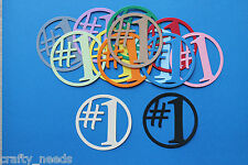 10 PC - Number # 1 Toppers Numeric Paper Die Cuts Scrapbooking - NOT a DIE