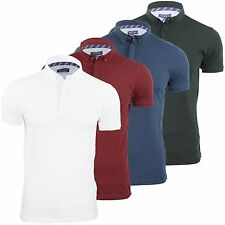 Mens Polo T Shirt Brave Soul Octavio Cotton Collared Pique Top Short Sleeved