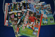 ASTON VILLA AWAY PROGRAMMES WITH MATCH TICKET YOUR CHOICE FREE POSTAGE