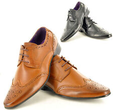 New Mens Casual Formal Lace Up Brogue Fashion Shoes In UK Sizes 6-11