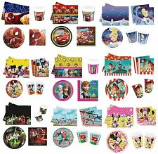 PARTY PACK FOR 16 - Range of LICENSED CHARACTER DESIGNS(Birthday Supplies){Set2}