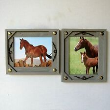 TWO 8x10 Rustic Western Lone Star Barb Wire Wood Picture Frames