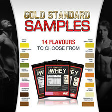 Optimum Nutrition Gold Standard 100% Whey Protein Samples 14 FLAVOURS TO TRY!