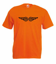 VW VOLKSWAGEN CAMPER WINGS GRAPHIC HIGH QUALITY 100% COTTON T SHIRT