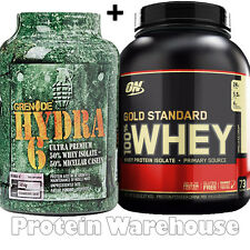 Optimum Nutrition On Gold Standard 100% Whey 5lb + Grenade Hydra 6 1.8kg Hydra6