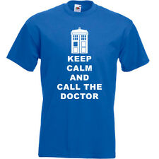 Keep Calm And Call The Doctor T Shirt Colour Choice FREE POST UK FUNNY NOVELTY
