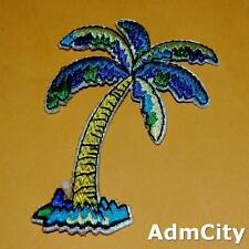 Tree Palm Beach Holiday Nature Iron on Patch Embroidered Applique Trip Green Lot