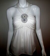 NWT WHITE HOUSE BLACK MARKET EMBELLISHED HALTER TOP BLOUSE SIZE 2XS,M,L,XL