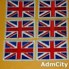 1 Union Jack Britain Uk Flag Iron on Sew Embroidered Badge Patch Biker Rock