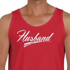 Husband Since (Your Year) Wedding T-shirt Anniversary Groom Gift Men's Tank Top