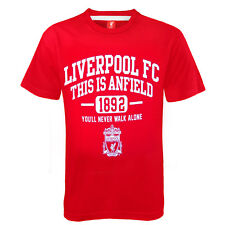 Liverpool FC Official Football Gift Boys Graphic T-Shirt Red