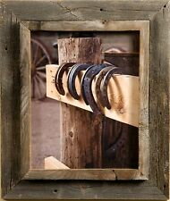 """Salvaged Reclaimed Wood Picture Frame-Western rustic 2.5"""""""