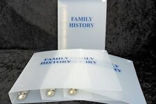 Family History Folders (A3 or A4) Polypropylene