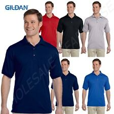 Gildan Men's Welt Knit Collar Three Button Placket Pocket BIG Polo Shirt BG890