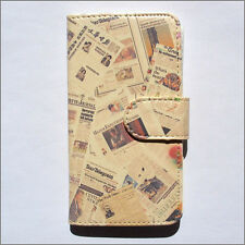 Brand new newspaper wallet Flip case cover for Samsung/iphone/Nokia/HTC