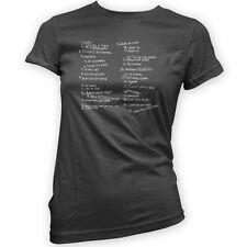 List of Rules to Survive Zombieland Women's T-Shirt -x11 Colours- Movie Zombie