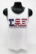 Sigma Alpha Epsilon ΣΑΕ Tank Top America USA American Flag Fraternity Shirt SAE