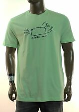 NEW MENS IZOD LOBSTER ROLL PASTEL GREEN CREW NECK COTTON GRAPHIC T SHIRT