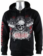 Avenged Sevenfold Ornate Deathbat LIC NWT Adult Hoodie Sweatshirt - Black