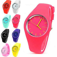 Students Watch New Soft Geneva Womens Candy Silicone Sports Watch Jelly