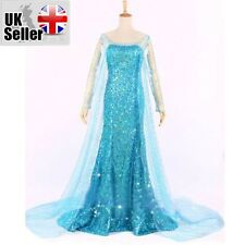 ADULT FROZEN STYLE PRINCESS ELSA  DRESS COSPLAY PARTY FANCY COSTUME