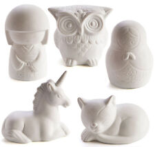 Unicorn Russian Babushka China Doll Cat or Owl Portable Ceramic Night Light