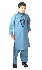 boy's embroidered cotton salwar kameez kurta shirt shalwar