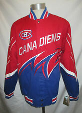 Montreal Canadiens Men's Nascar Style Snap Jacket     Red & Royal Blue