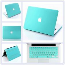 """Turquoise Rubberized Hard Case+Keyboard Cover Skin for Macbook Air Pro 11 13 15"""""""
