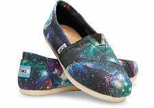 Authentic TOMS Galaxy Women's Canvas Shoes Classics Slip Ons US size