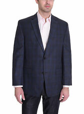 Michael Kors Modern Fit Blue Plaid Two Button Blazer Sportcoat