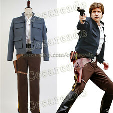 Star Wars Empire Strikes Back Han Solo COSplay Costume Jacket Attire Outfit Suit