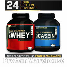 Optimum Nutrition 100% Gold Standard Whey Protein 5lb + ON Casein Protein 1.8kg