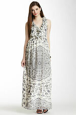 BRAND NEW w/Tags French Connection FCUK Mustique Silk Tile Print Maxi Dress 6,10