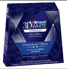 Crest3D Professional Pro Effects LUXE Whitestrips Teeth Whitening Strips Multi